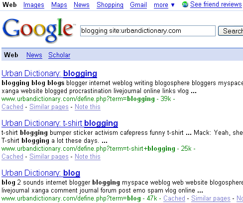 Results Of Using Embedded Search Box