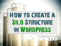 "Image showing silos and the title ""How to create a silo structure in WordPress"""
