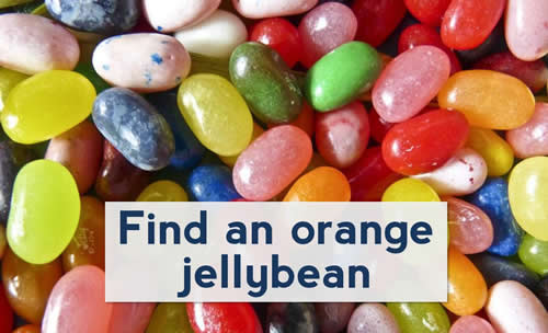 Image of unsorted jellybeans, representing unsorted content on a website.