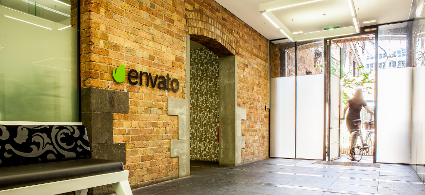 Photo of the entry to Envato's Melbourne office