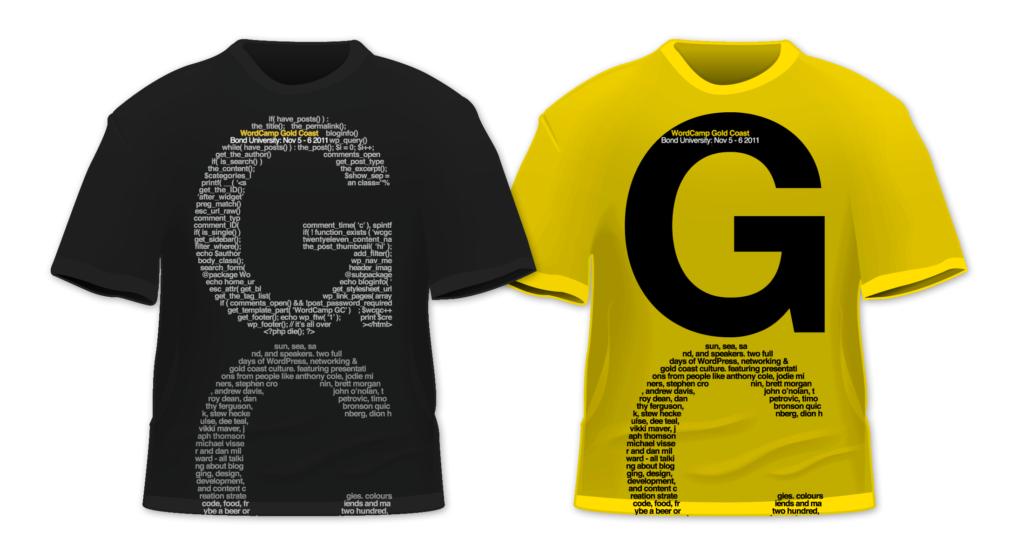 WordCamp Gold Coast T-shirt